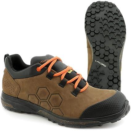 Trabajo de zapatos de seguridad Botas lavoro Yoda | SRC HRO S3 ESD marrón Hombre Media