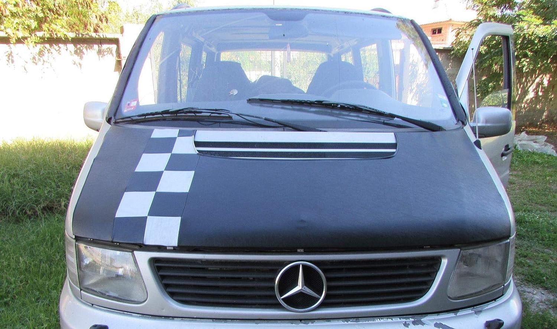 AVITON Bonnet Cover Bra for Mercedes Vito MK2 1996-2003 Silver Chequered