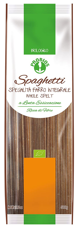 Probios Pasta Integral de Espelta Spaghetti - Paquete de 12 x 500 gr - Total: 6000 gr: Amazon.es: Alimentación y bebidas