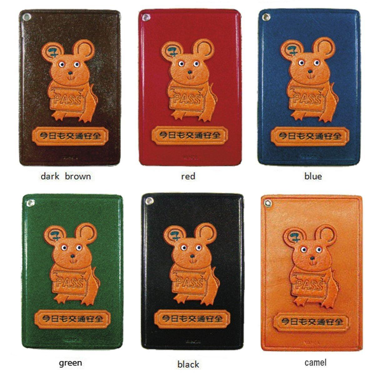 Zodiac/Rat Leather Animal Pass/ID/Credit/Card Holder/CaseVANCA Handmade in Japan