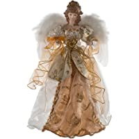 Kurt Adler 17-Inch Ivory and Gold Angel Treetop
