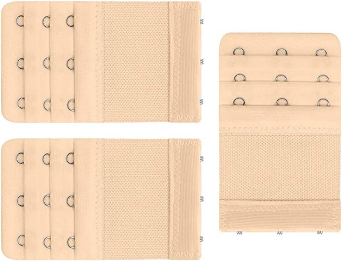 Xcsskg estensori elastici per la banda del reggiseno con 3 ganci confezione da 3 pezzi White