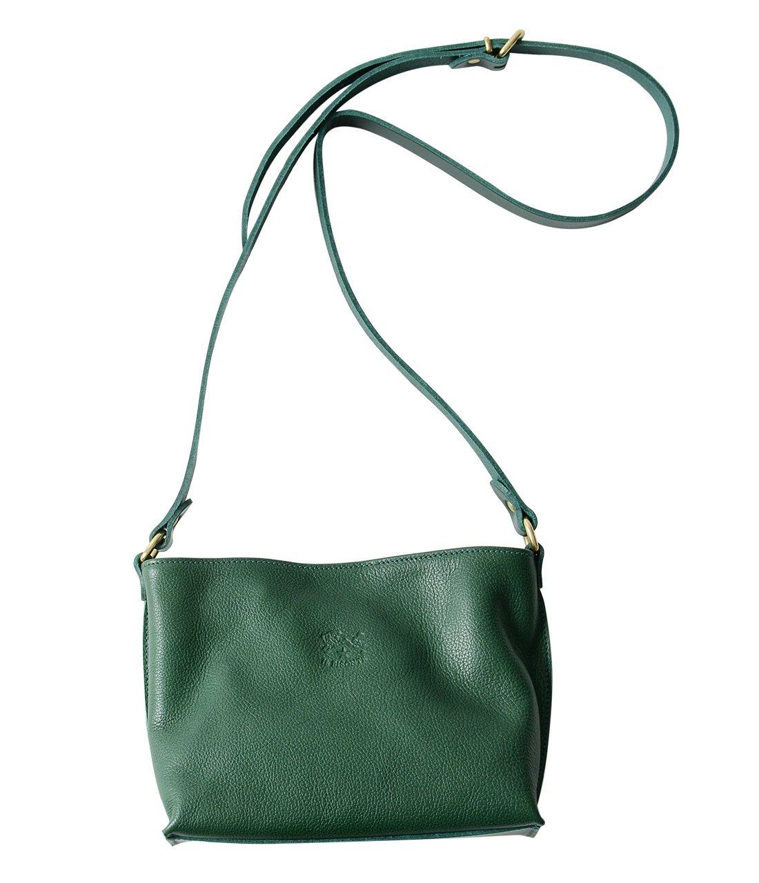 国内正規販売店 (イルビゾンテ) IL BISONTE レザー ショルダーバッグ ポシェット 54324-0-0410 レディース B07D51YQHD green(col.93) green(col.93)