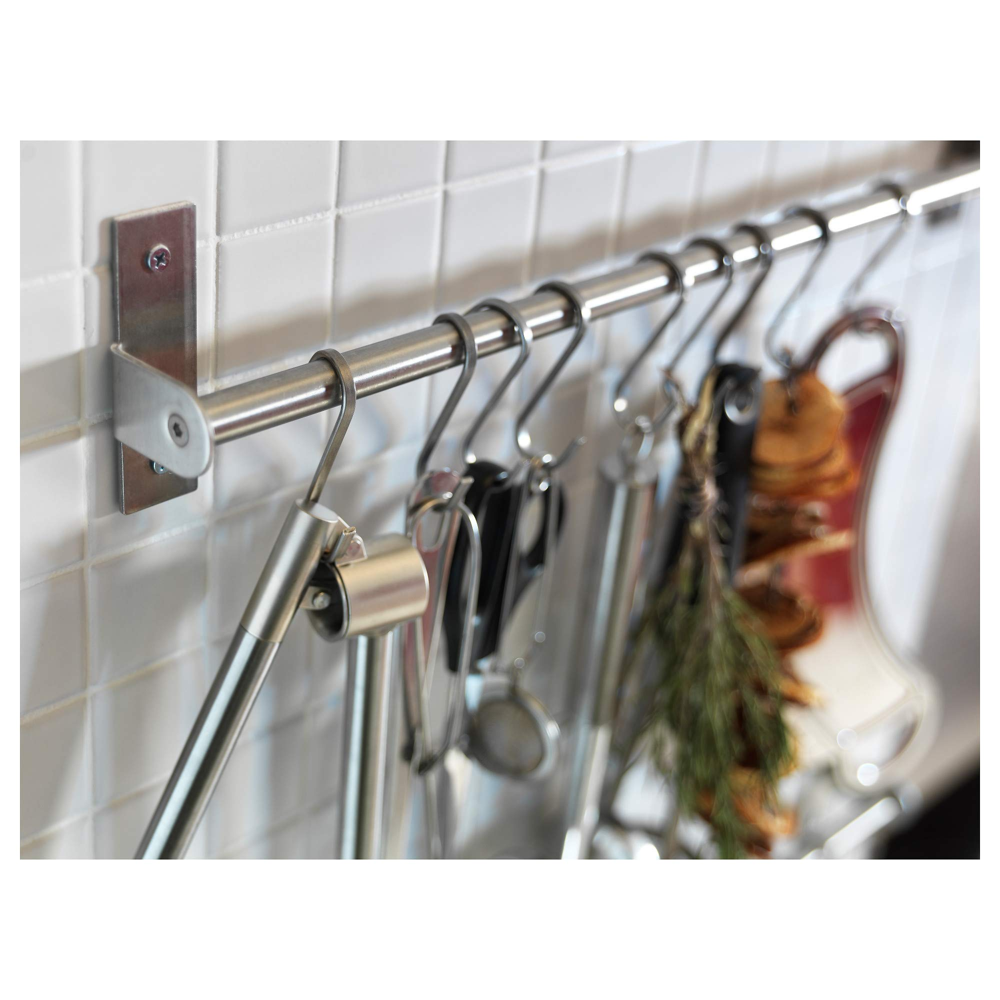 S Shaped Hanging Hooks for Kitchen Bedroom Bathroom Storage Garden Cabinet and Office, 8-Pack Size Medium Heavy Duty Superior Quality