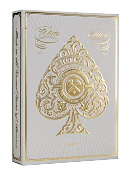 Theory Blanco Artesano Naipes por teoría 11   White Artisan Playing Cards by 11