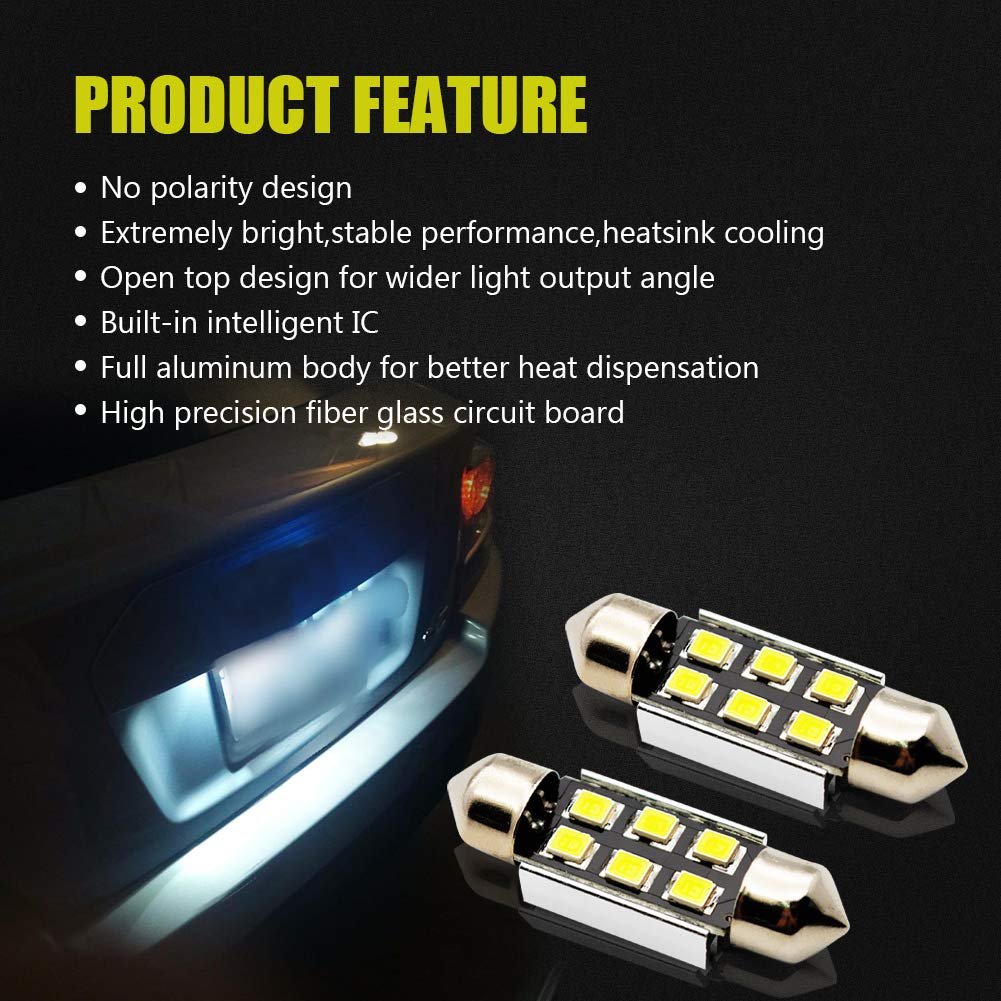 LncBoc 921 LED Backup Lights Bulbs 912 T15 W16W Reverse Lights 48-SMD 3014 LED Extremely Bright Xenon White 6000k Pack of 2