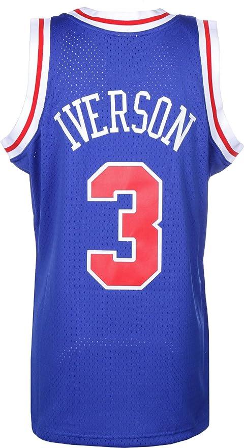 Mitchell & Ness Replica Swingman NBA Jersey HWC 3 Allen Iverson Philadelphia 76ers Basketball Trikot: Amazon.es: Ropa y accesorios
