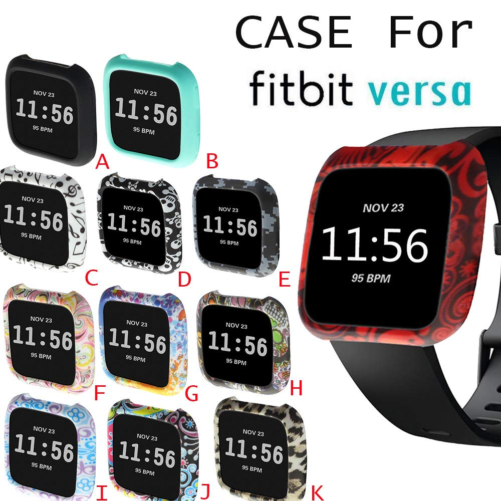 SUKEQ for Fitbit Versa Case, TPU Silicone Screen Protector Watch Casing Guard Rugged Cover Case All Around Protective Bumper Shell for Fitbit Versa Smartwatch (Camo) by SUKEQ (Image #3)