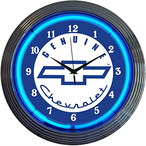 Neonetics Cars and Motorcycles Genuine Chevrolet Neon Wall Clock