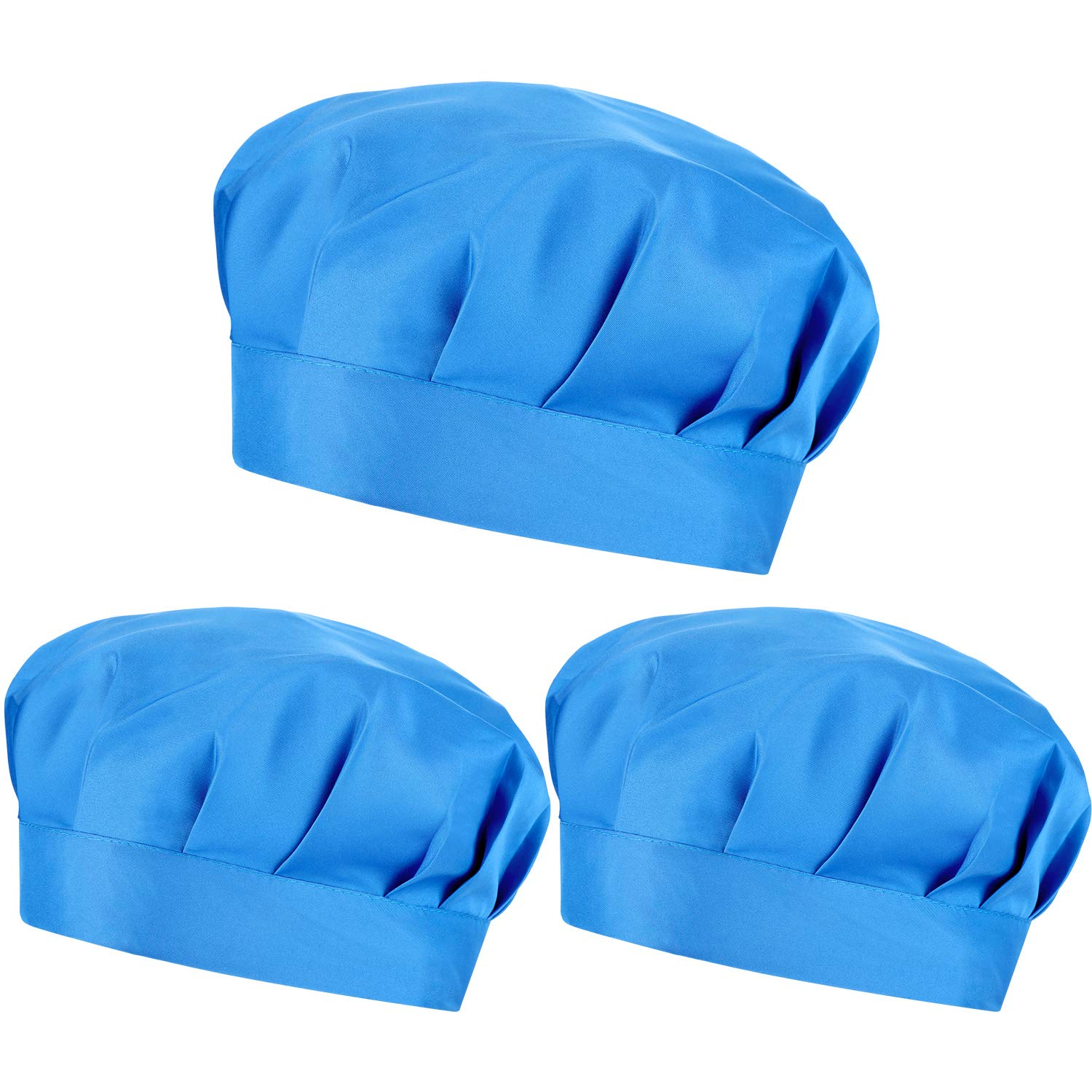 PRETYZOOM Surgical Scrub Caps Adjustable Bouffant Hats Elastic Head Covers Medical Doctor Men Women 3pcs