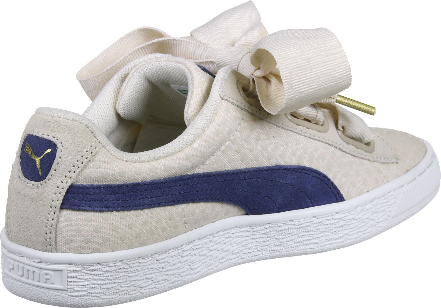 Puma Basket Heart Denim W Calzado oatmeal 40.5 EU|Oatmeal-twilight Blue