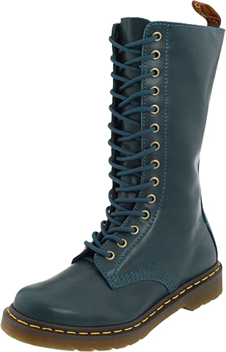 Dr Martens Dr Martens Pascal Womens Leather 8 Eyelet Ankle Boots Peacock Green