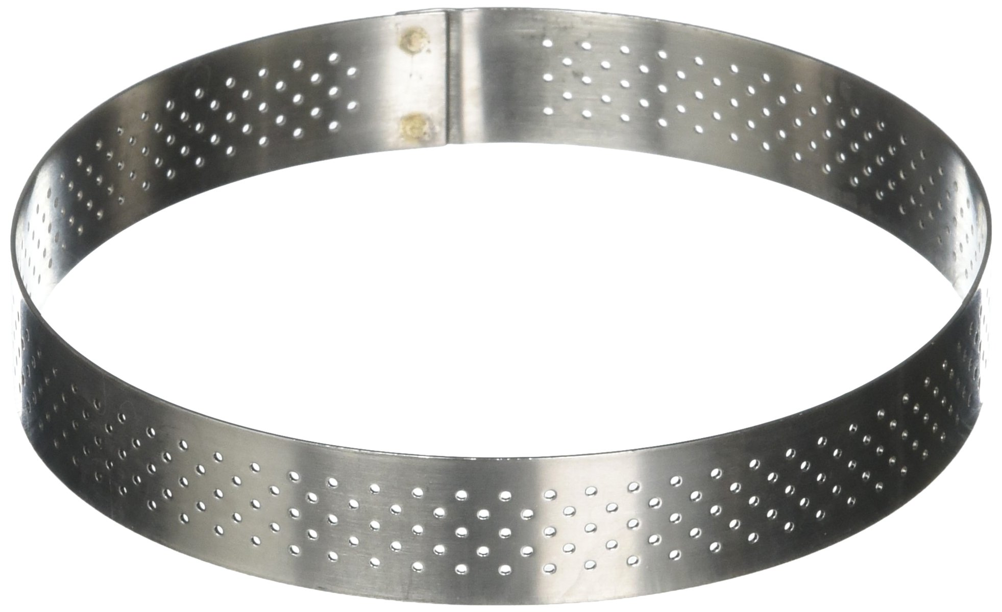 PERFORATED TART RING, Round, in Stainless Steel, 0.75-Inch high O 5-Inch