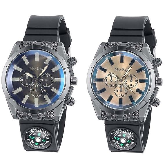 Navion Cool hombre Racer Piloto Aviador Militar del ejército reloj deportivo silicona Carcasas 2 pcs