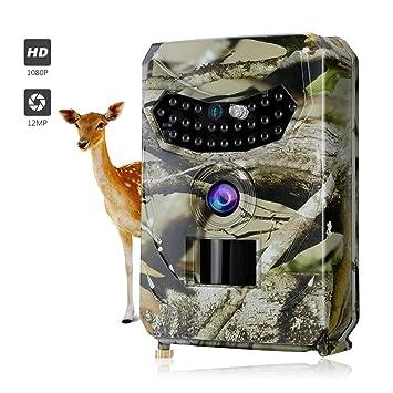 Outlife Cámara de Caza, Full HD 12MP 1080P Trail Cámara, Cámara Vigilancia Infrarrojos Visión