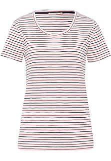 65275abe8bec28 armedangels Damen T-Shirt Aus Bio-Baumwolle - Josi Twin Stripes - GOTS