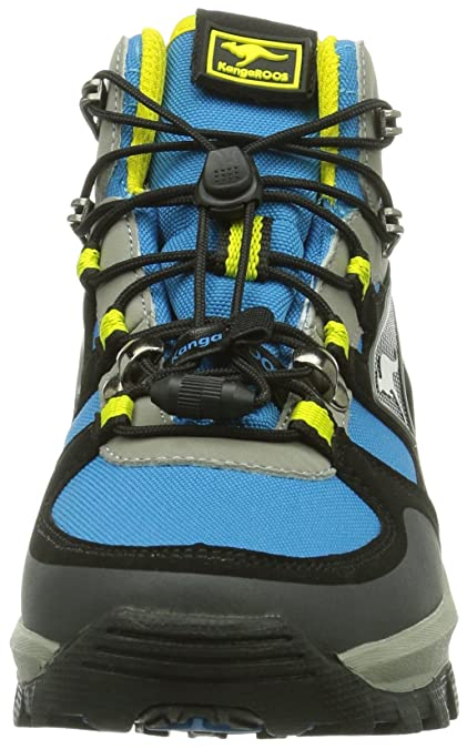 Kangaroos Sentry Mid Kids - Botas de montaña, color Blue/Acid Yellow 476, talla 33 EU (1 Kinder UK)