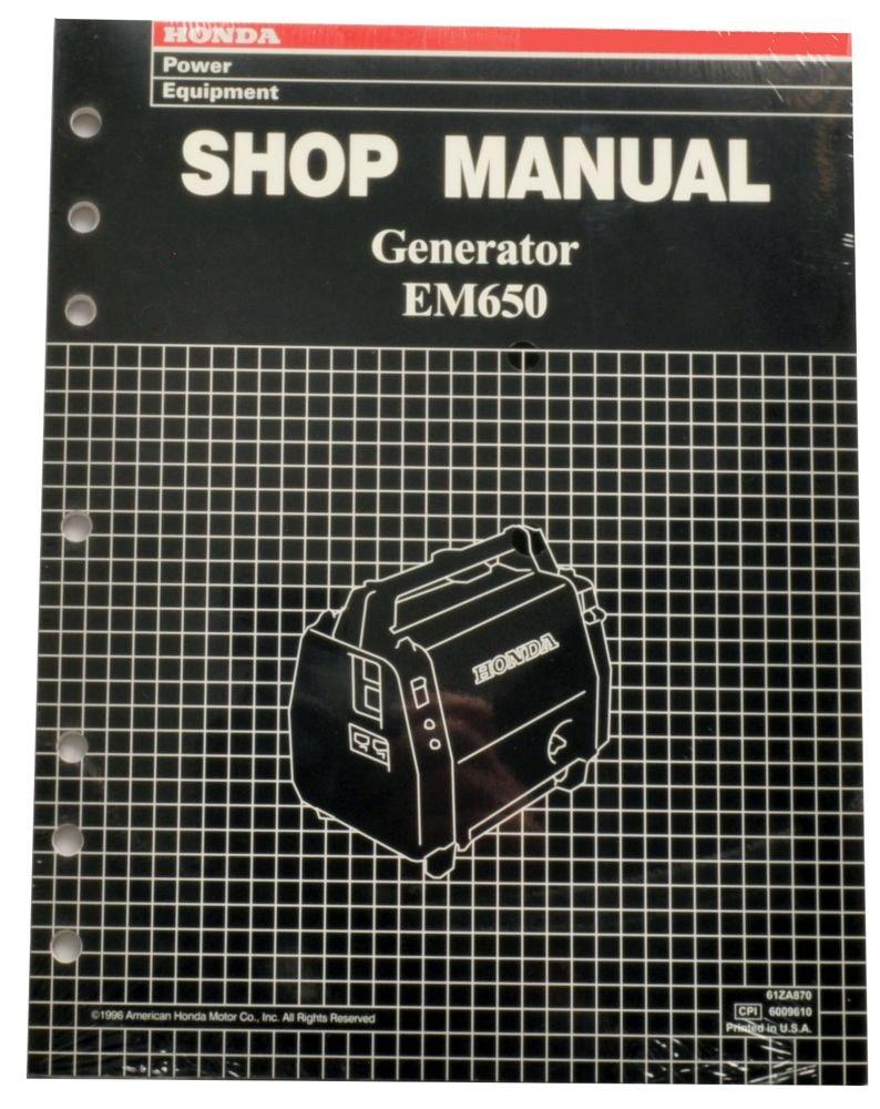 Amazon.com : Honda EM650 Generator Service Repair Shop Manual : Lawn And  Garden Tool Replacement Parts : Garden & Outdoor