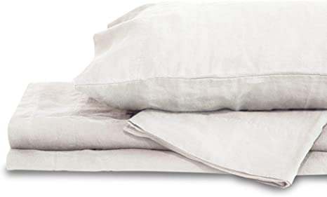 Light Gray Queen Pillow Cases Delilah Home Sustainable Living 100/% Organic Cotton Bed Sheets