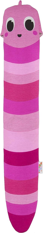 lange W/ärmflasche f/ür Kinder in verschiedenen Farben: Pink Pippa kuschlige umweltfreundliche Body Bottle Warm Worm Das Original von YUYU Bezug Baumwolle L75xB15 cm
