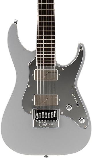 Esp lksm7etms guitarra eléctrica, diseño metálico, color plateado ...