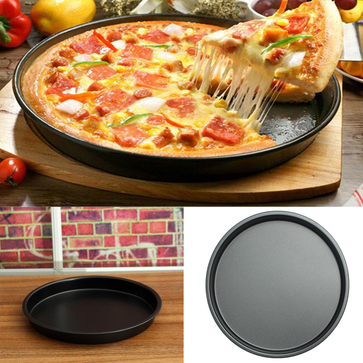 Janolia Plato para Pizza, Revestimiento Antiadherente de Acero ...