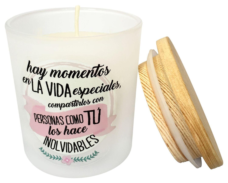Velas originales para detalles y recuerdos Bodas Lote de 12 Velas Arom/áticas FrasesComo T/ú