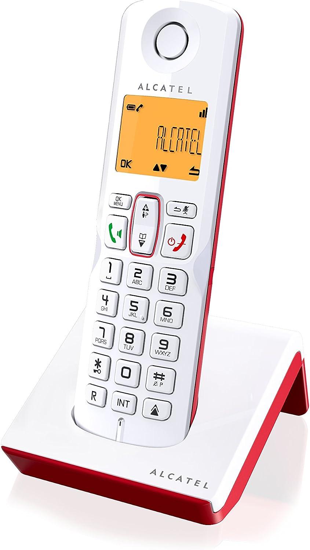 Alcatel S250- Teléfono Inalámbrico, Color Rojo/Blanco: Amazon.es: Electrónica