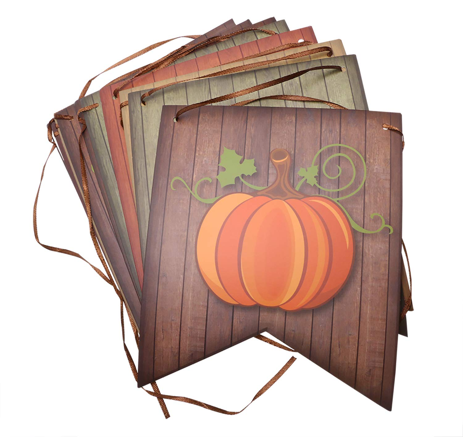 Baby Shower Home Office Outdoor Party Supply Decorations Shapenty Give Thanks Hanging Banner Paper Maple Leaves and Pumpkin Burlap Cardstocks for Thanksgiving Day Halloween