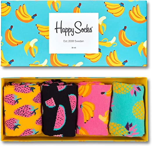Happy Socks Fruit Gift Box Calcetines, Gelb (Koralle 3000), Talla ...