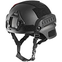 OneTigris MICH 2000 Style ACH Tactical Helmet with NVG Mount and Side Rail for Airsoft Paintball