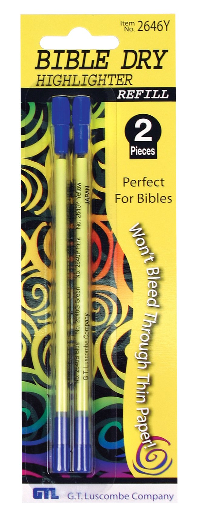 Bible Highlighter Refills Yellow Carded