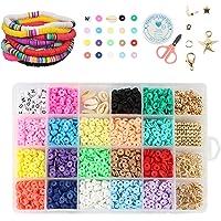 Guanyj Klei Kralen Clay Spacer DIY kralen Set kralen Kralen Armband Ketting Maken Kit kinderen DIY Kralen Met Elastische…