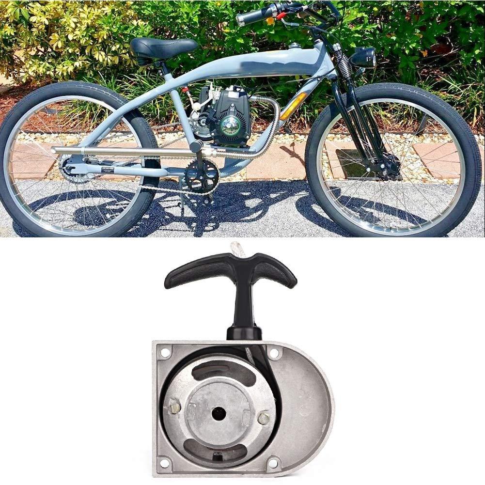 Arrancador de Arranque de Arranque Conjunto de Arranque de Aleaci/ón de Aluminio Apto para Bicicletas Motorizadas de 49cc 50cc 60cc 66cc 70cc 80cc de 2 Tiempos