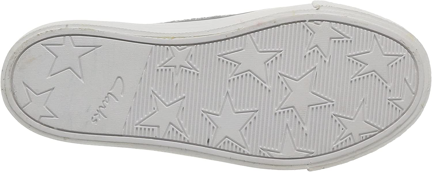 Clarks Brill Prize, Baskets mode fille Argent Silver Synthetic