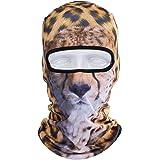 JIUSY 3D Animal Balaclava Face Mask Breathable Outdoor Sports Motorcycle Cycling Snowboard Hunting Ski Cat Dog