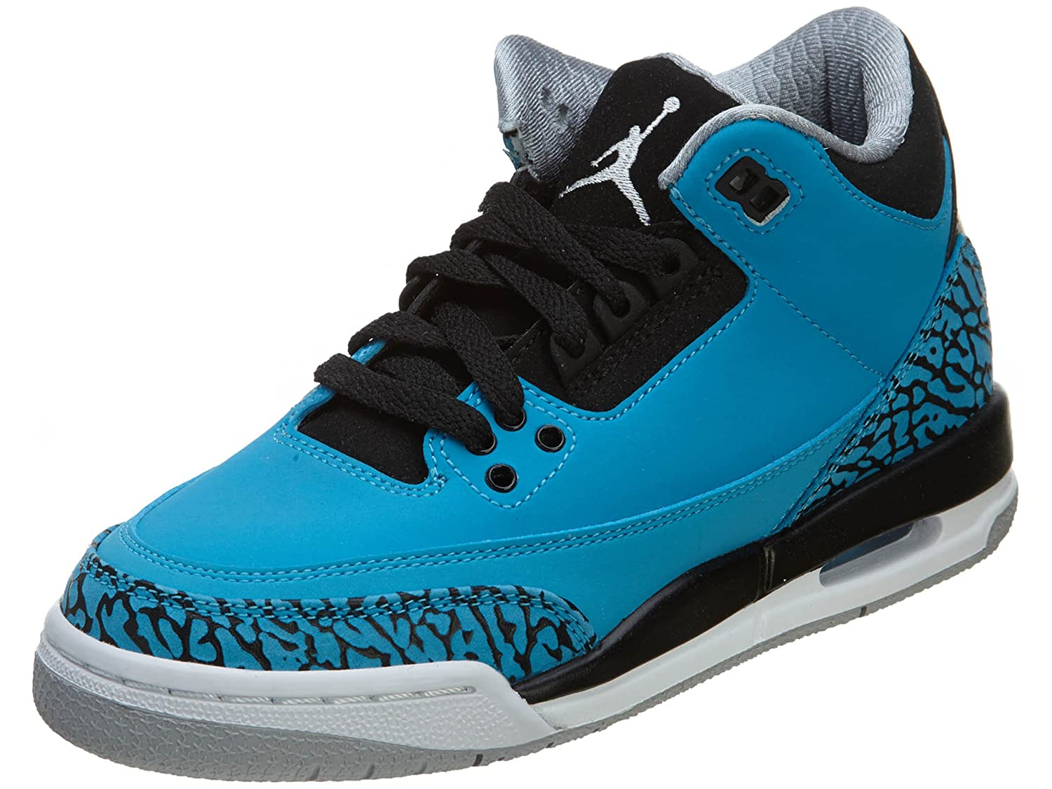 Amazon.com | Nike Air Jordan 3 Retro BG [398614-406] Kids Casual Shoes Powder Blue/White | Basketball