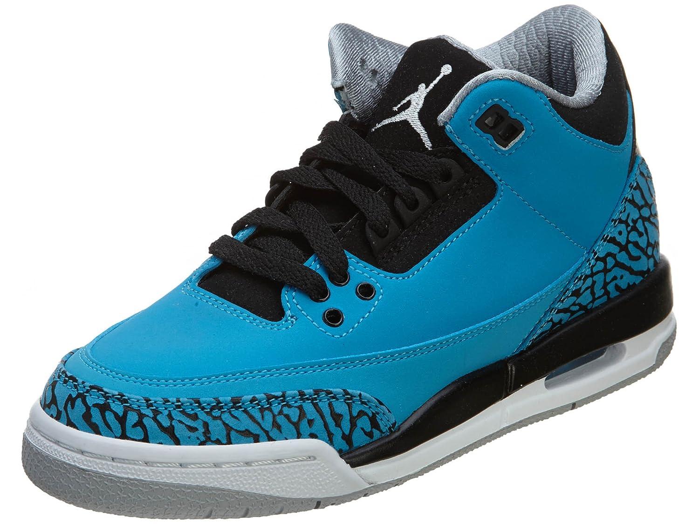 Amazon.com | Nike Air Jordan 3 Retro BG [398614-406] Kids Casual Shoes Powder Blue/White | Basketball
