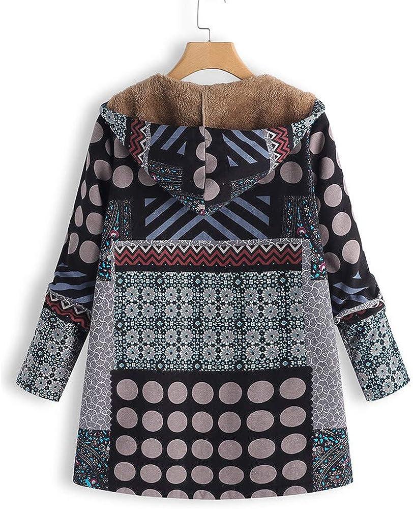 Oversized Jean Jacket Women,Plus Size Women Hooded Long Sleeve Cotton Linen Fluffy Fur Zipper Coat Outwear