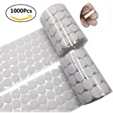 1000pcs adhesive (500 Pair Sets) 0.39in Diameter Sticky Back Coins Hook & Loop Self Adhesive Dots Tapes,10mm White