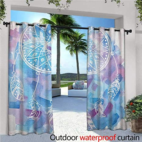 Amazon com : familytaste Feather Exterior/Outside Curtains