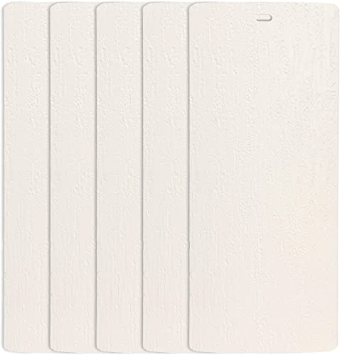 DALIX Rustic Vertical Blinds Slats Replacement Ivory 98.5 High Window 5 Pack