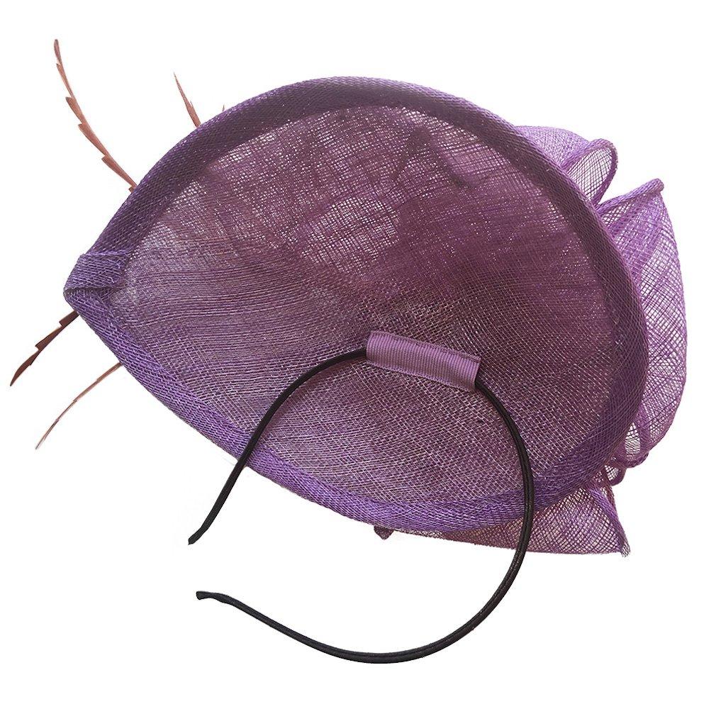 Burgundy Fascinator Headband Cocktail Wedding Tea Party Derby Hats for Women by HatRoom