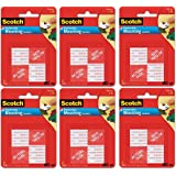 "Scotch® - Precut Foam Mounting 1"" Squares, Double-Sided, Removable, 16 Squares/Pack - Precut, double-sided mounting tabs- 6 pack"