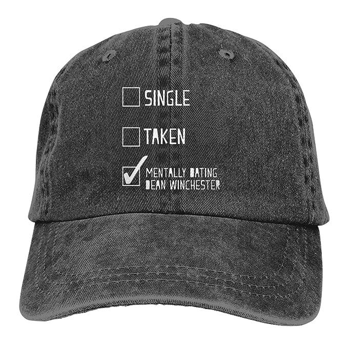 77a6cd09a0 Mentally Dating Dean Winchester Unisex Denim Hat Baseball Hat Adult  Adjustable Hat