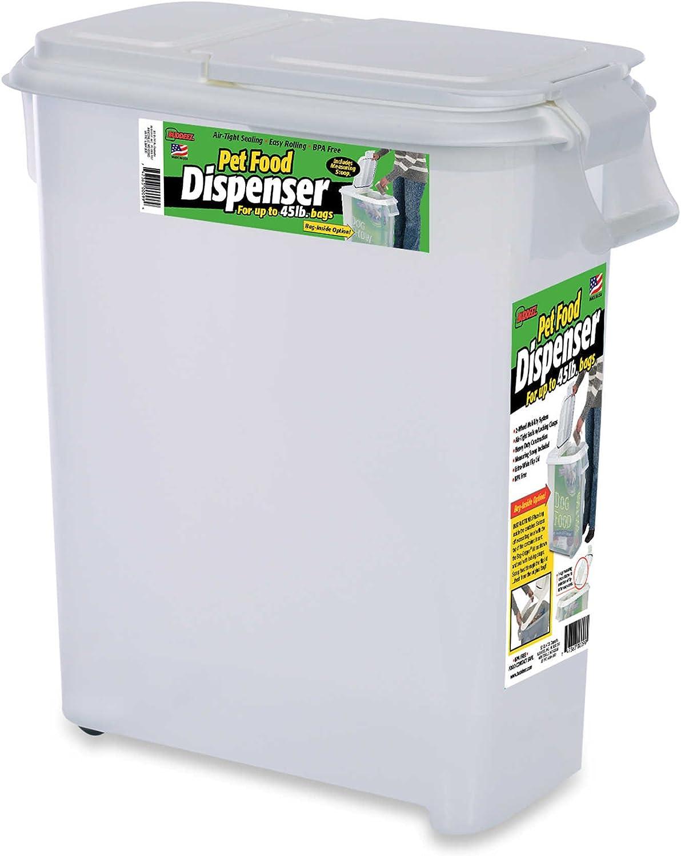 Buddeez Roll Away 50-Quart Pet Food Dispenser (1)