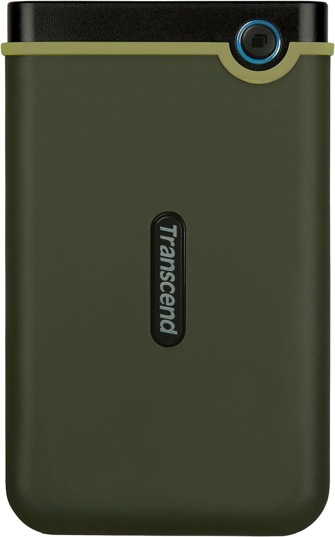 Transcend 2TB USB 3.1 Gen 1 StoreJet 25M3G SJ25M3G Rugged External Hard Drive TS2TSJ25M3G, Military Green