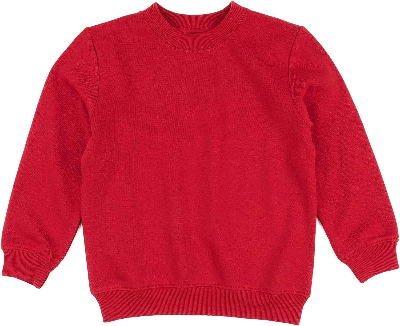Leveret Kids /& Toddler Sweatshirt Boys Girls Long Sleeve Shirt Variety of Colors Size 2-14 Years