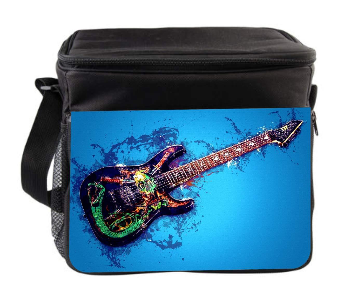 Rosie Parker Inc. Music Skull Guitar Cross Body Thermal Cooler Bag for Travel by Rosie Parker Inc.