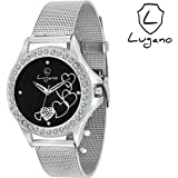Lugano Analogue Black Round Dial Women's & Girl's Watch -Lg2023
